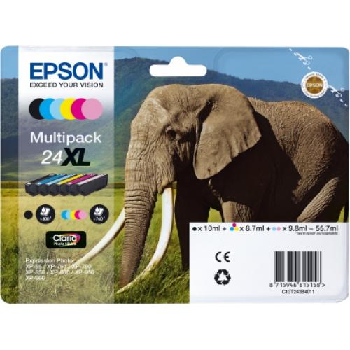 EPSON Cartouches 24 XL - Pack de 6
