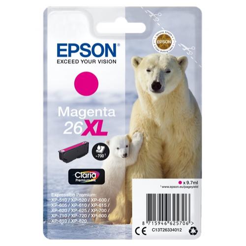 EPSON Cartouche 26 XL - Magenta