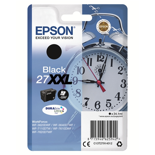 EPSON Cartouche 27 XXL - Noir