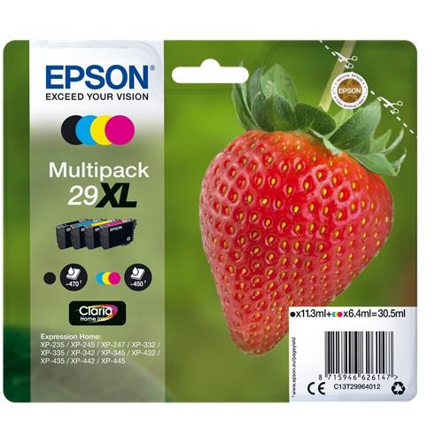 EPSON Cartouches 29 XL - Pack 4 - Noir, Magenta, Cyan, Jaune