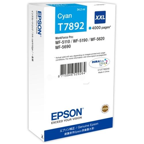 EPSON Cartouche T7892 XXL - Cyan