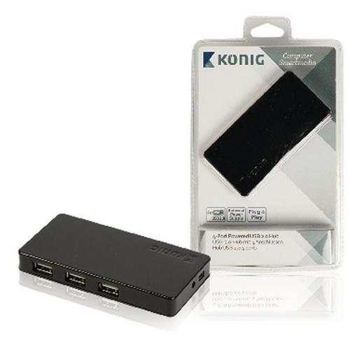 KONIG - Hub 4 ports - USB 2.0