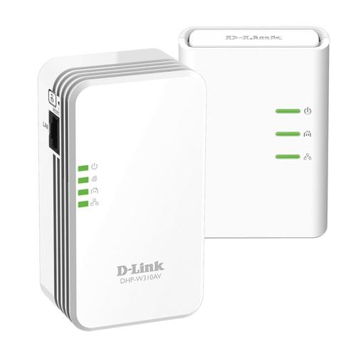 D-LINK CPL DHP-W311AV - Kit de 2 - 500 Mbit/s - avec Wifi