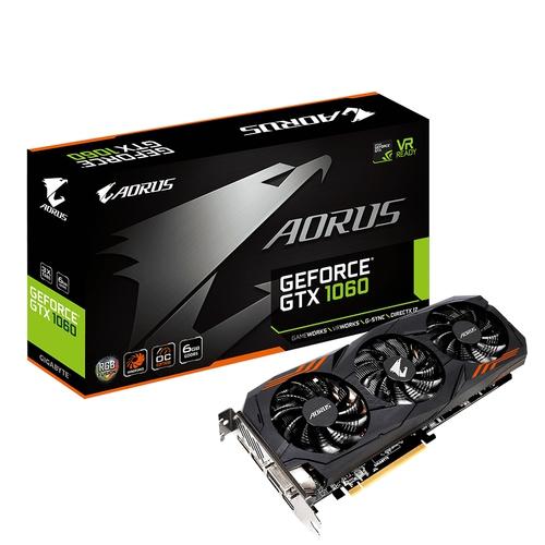 AORUS Nvidia GeForce GTX1060 6G - 6Go - PCI-e 16X - HDMI 2xDVI 3xDP