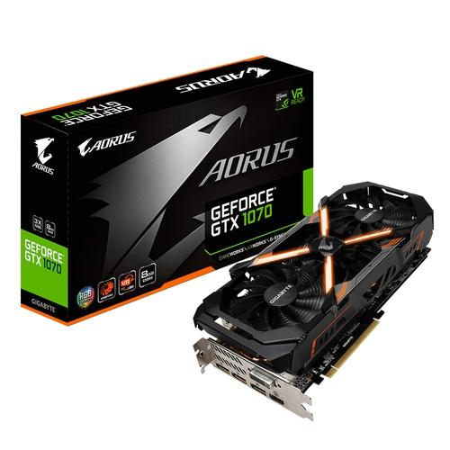 AORUS Nvidia GeForce GTX1070 8G -8Go - PCI-e 16X - HDMI DVI 3xDP