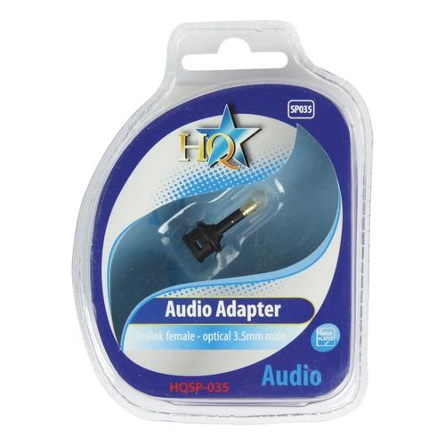 HQ Adaptateur Toslink Optique 3.5mm (M) - Toslink (F)