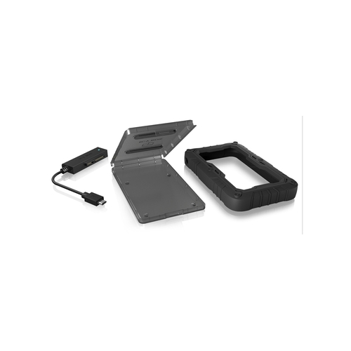 "ICY BOX Boîtier 2.5"" Sata - USB 3.1 Type C - Protection silicone"