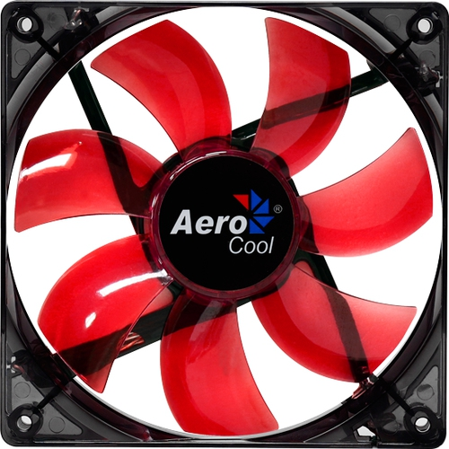 AEROCOOL Ventilateur Lightning LED Rouge 120mm