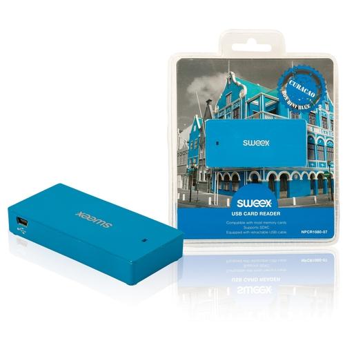 SWEEX Lecteur Multicartes USB 2.0 Bleu