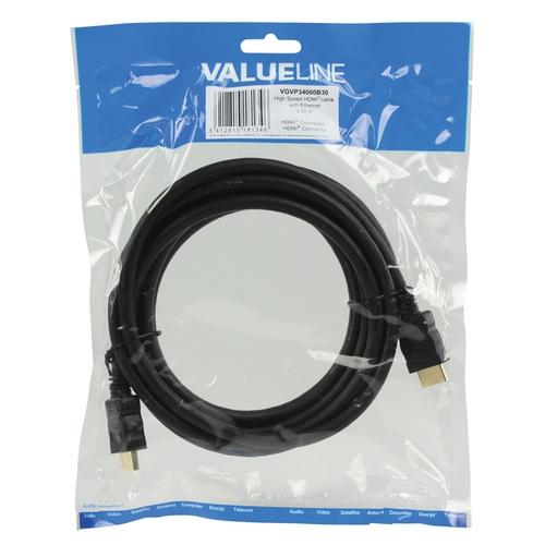 VALUELINE Câble HDMI avec Ethernet plat (M-M) 3.00m