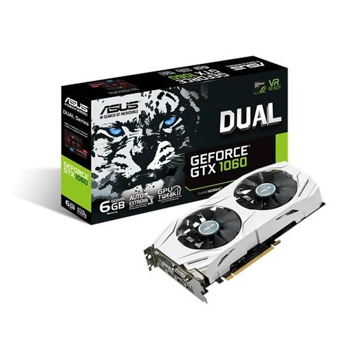 ASUS Nvidia GeForce DUAL-GTX1060-6G - 6Go - PCI-e 16X - 2xHDMI DVI 2xDP