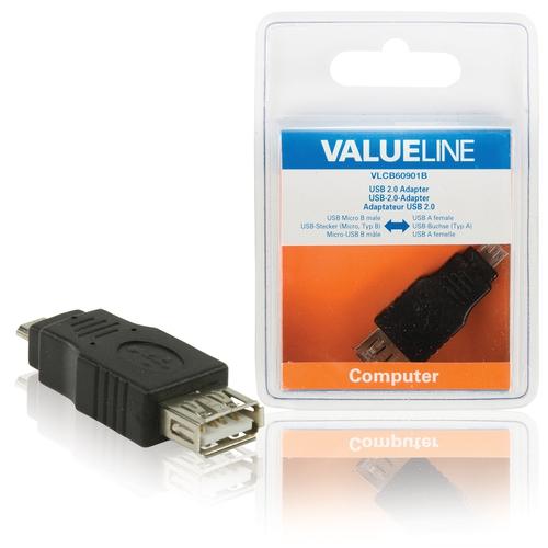 VALUELINE Adaptateur USB 2.0 Micro B (M) - USB A (F)