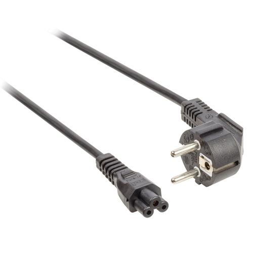 VALUELINE Câble d'alimentation C5 Type F (M) - IEC-320-C5 (M) (Tripolaire) 2.00m