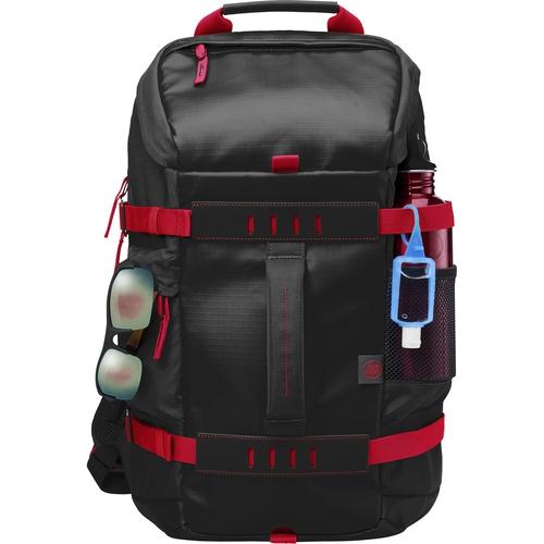 "HP Odyssey - Sac à dos - Noir/Rouge - 15.6"""
