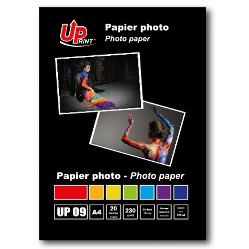 UPRINT Papier photo brillant A4 - 230Gr - 20 feuilles