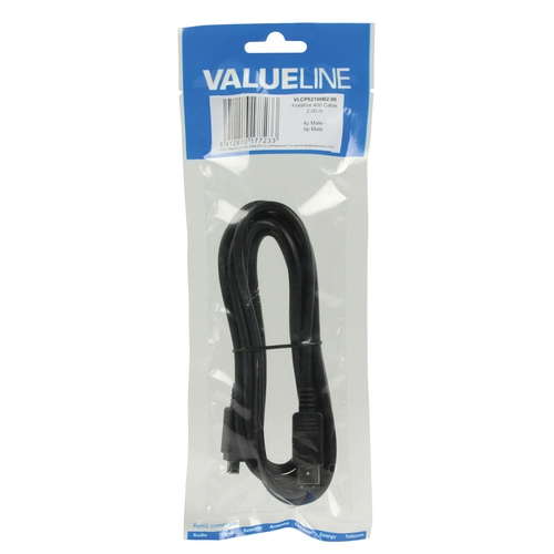 VALUELINE Câble FireWire 400 4p (M) - 6p (M) 2.00 m