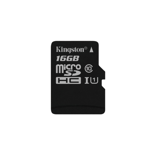 KINGSTON Carte microSDHC 16 Go -  Class 10 UHS-I U1 - Avec adaptateur SD