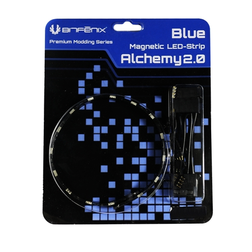 BITFENIX - Bandes Led Alchemy 2.0 Magnetic - 12cm, 6 Leds, Bleu