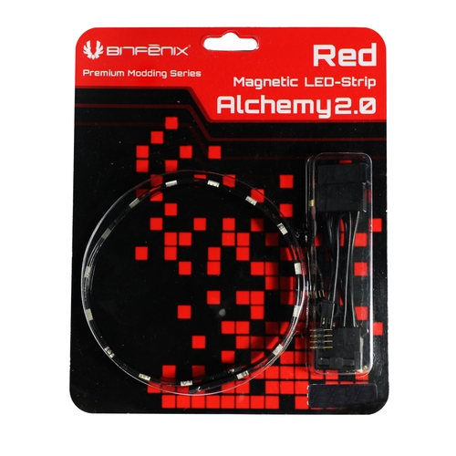 BITFENIX Alchemy Magnetic bandeau LED 12cm - 6 LEDs - Rouge