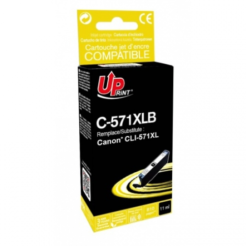 UPRINT Cartouche compatible Canon CLI-571 XL BK - Noir photo
