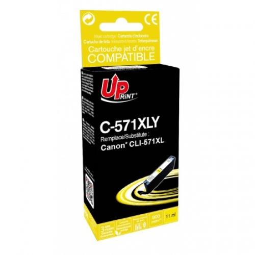 UPRINT Cartouche compatible Canon CLI-571 XL Y - Jaune