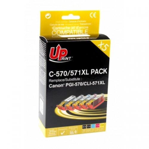 UPRINT cartouches compatibles Canon PGI 570XL/CLI 571 XL - pack de 5
