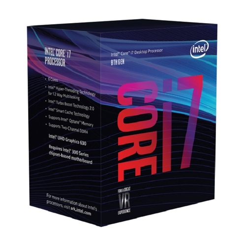 INTEL Core i7 8700 - Socket 1151 - 6 Coeurs HT - 3.2/4.6Ghz - 12Mb