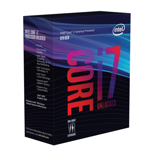INTEL Core i7 8700K - Socket 1151 - 6 Coeurs HT - 3.7/4.7Ghz - 12Mo