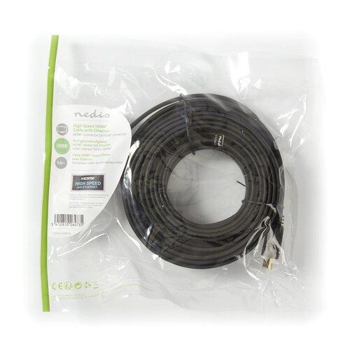 Câble HDMI haute vitesse avec Ethernet plat 5M Noir