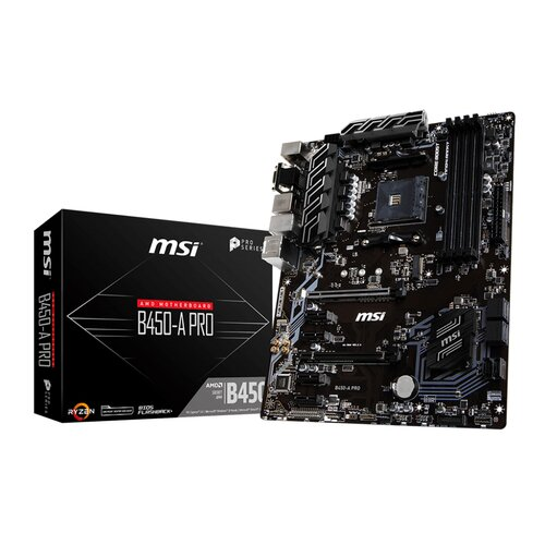 MSI B450-A-PRO Socket AM4 - DDR4 - ATX