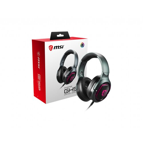 MSI Casque-Micro Gaming Surround 7.1 GH50 USB Eclairage RGB avec Vibration