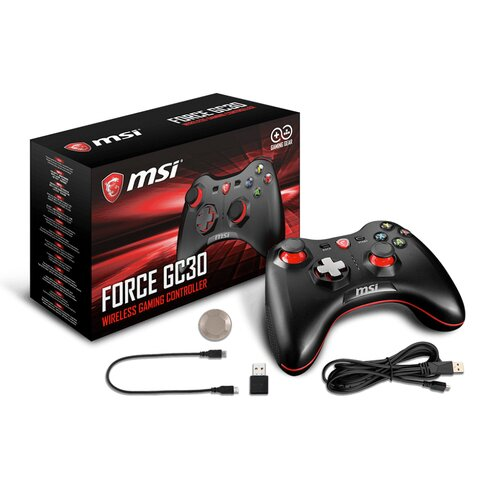 MSI Force GC30 Gaming USB Manette filaire/sans fil - Win/And