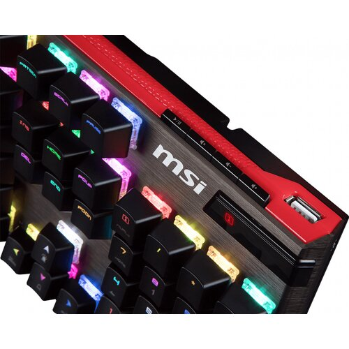 MSI Clavier mécanique VIGOR GK80 Silver Switch MX Red RGB