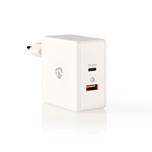 Nedis Chargeur USB et USB-C 3.0A avec Quick-Charge 30W