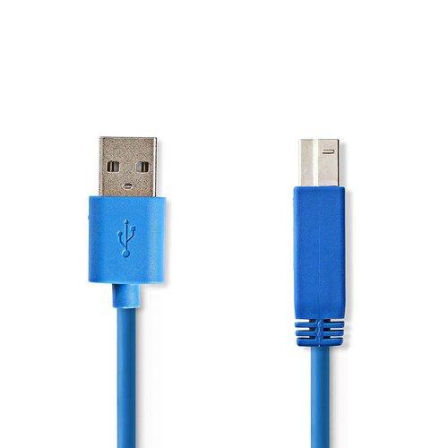 Nedis Câble USB 3.0 A-B 2.00m Bleu