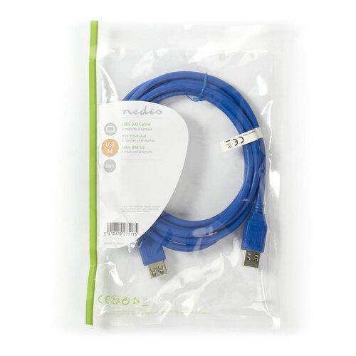 Nedis Rallonge USB3.0 A (M) -A (F) 2.00m Bleue