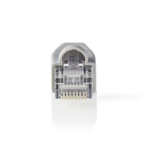 NEDIS Pack de 10x Connecteurs RJ45 Solid UTP CAT6 Mâle Gris