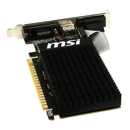 MSI Nvidia GeForce GT710 2GD3H LP - 2Go - HDMI DVI VGA