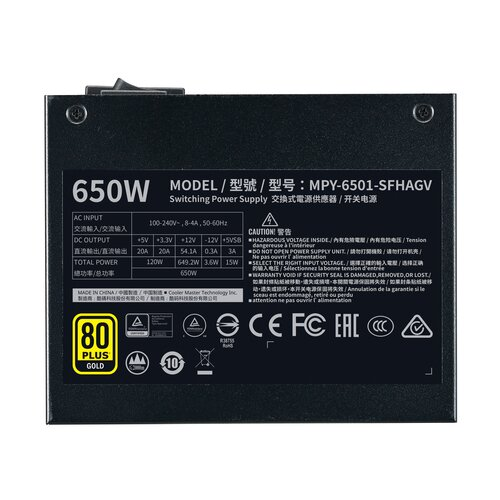 Cooler Master V650 650W SFX 80Plus Gold Full Modulaire