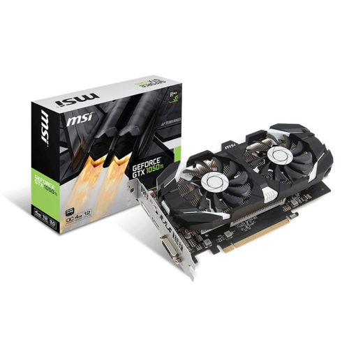 MSI Nvidia GeForce GTX1050-Ti 4GT OC - 4Go - PCI-e 16X - HDMI DVI DP