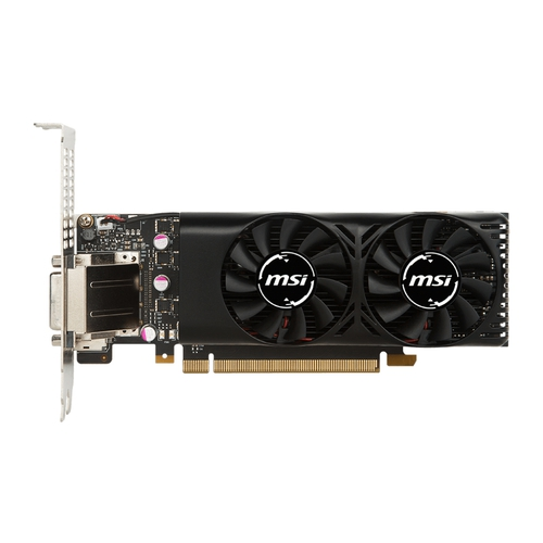 MSI Nvidia GeForce GTX1050 2GT LP - 2Go - PI-e 16X - HDMI DVI DP