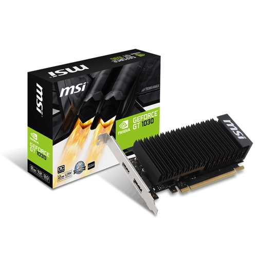 MSI Nvidia GeForce GT1030 2GH LP OC - 2Go - PCI-e 16X - HDMI DP