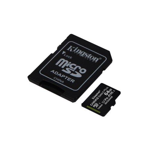 Kingston Carte Micro SDXC avec adaptateur SD 64Go Class 10