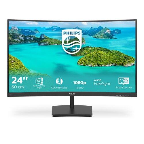 Philips Ecran 241E1 24'' FHD 1080P incurvé VGA/HDMI Dalle VA