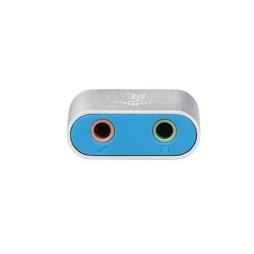 I-TEC Adaptateur Audio USB Casque/Micro Metal