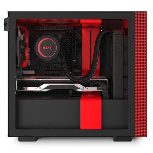 NZXT Boîtier H200i Red/Noir RGB MITX