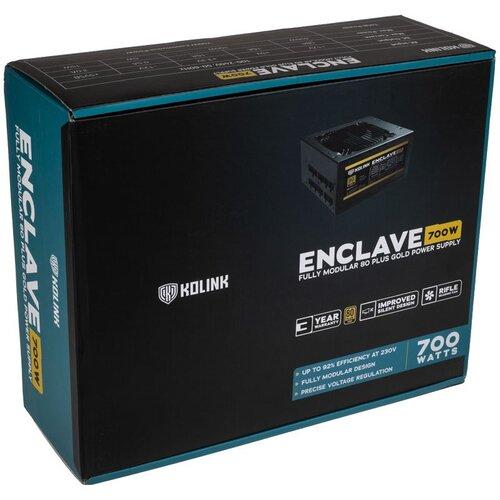 Kolink Alimentation Enclave 700W 80Plus Gold Full Modulaire PAS DE CABLE FOURNI