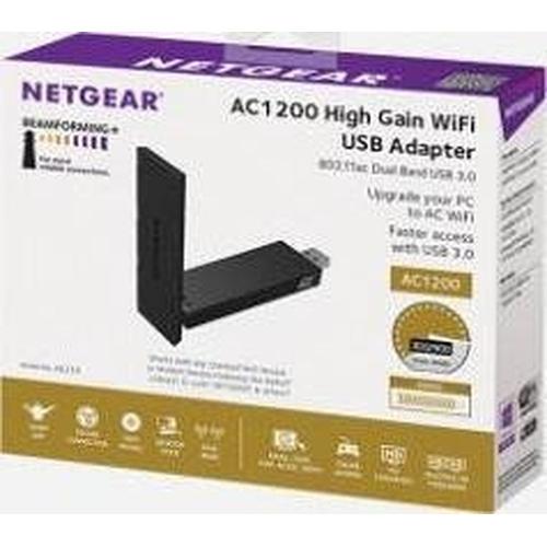 NETGEAR A6210-100PES Adaptateur USB 3.0  Wi-Fi 802.11ac