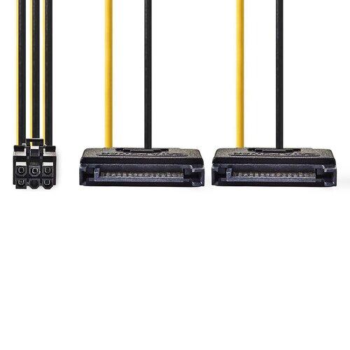 Nedis Câble d'alimentation interne 2X SATA - PCI-e 6 pins 0.20m