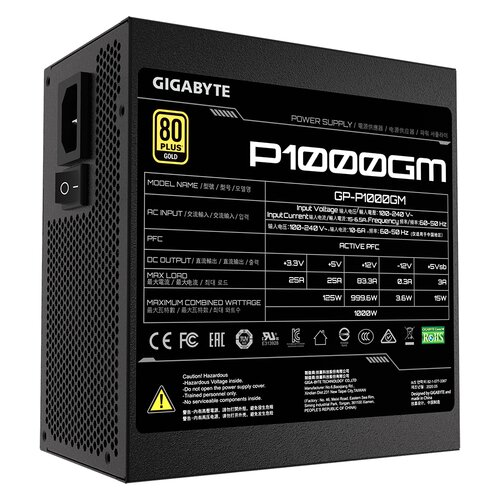 Gigabyte Alimentation GP-P1000GM 1000W Full-Modulaire 80plus Gold